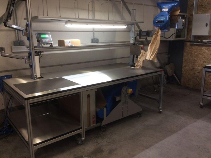 Systèmes de pesage pour tables d'emballage