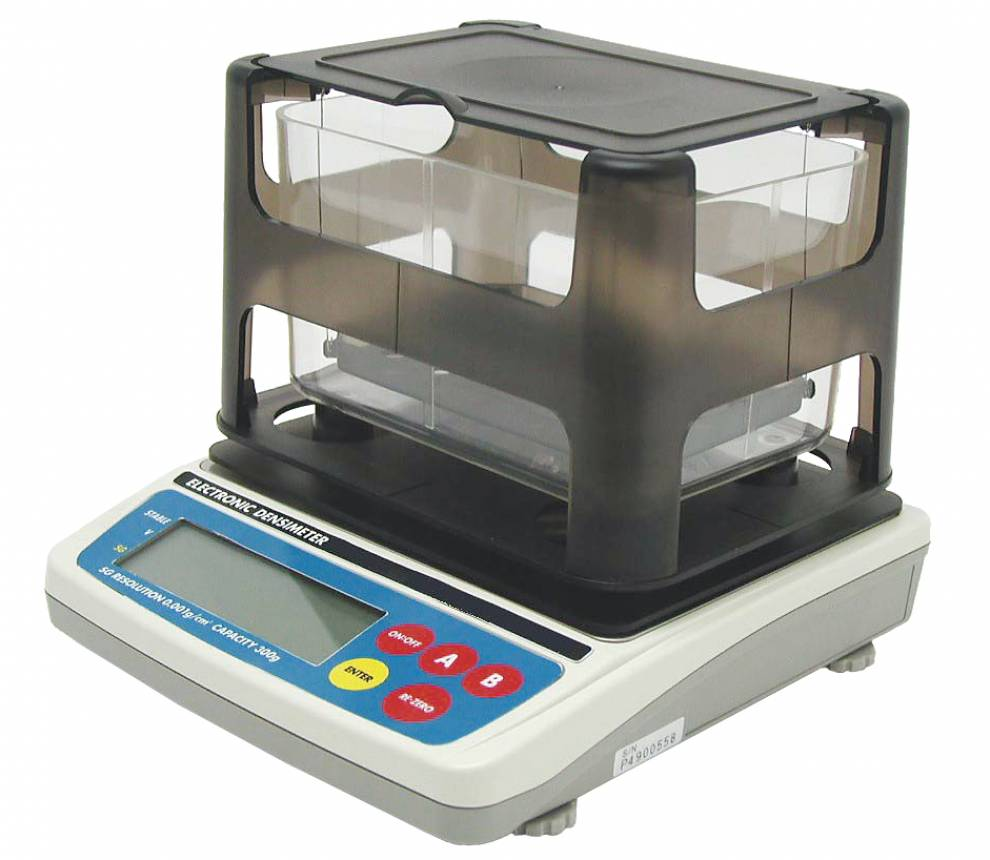 Densimeter to measure the specific density