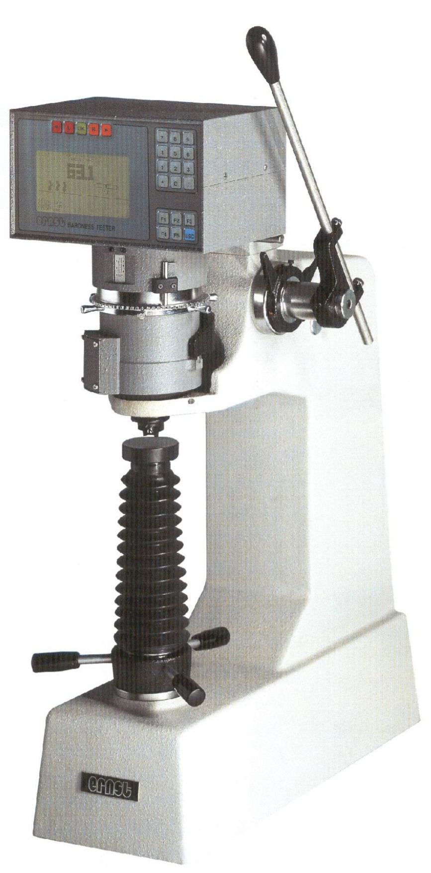 Bench type robust and accurate hardness testers : Rockwell, Vickers, Brinell